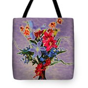 Lilies And Orchids Topaz II Tote Bag