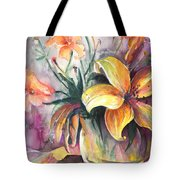 Lilies In A Vase Tote Bag