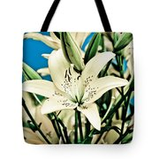 Lilies In White Tote Bag