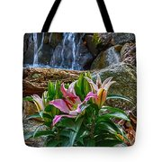 Lilies Of The Falls Tote Bag