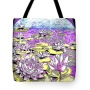 Lilies Of The Lake Tote Bag