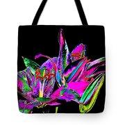 Lilies Pop Art Tote Bag