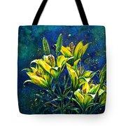Lilies Tote Bag by Zaira Dzhaubaeva