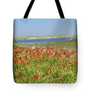 Lillies By The Lake Tote Bag