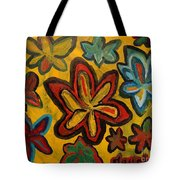 Lillies In Space Tote Bag