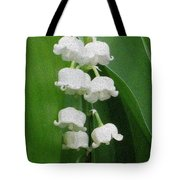 Lillies Of The Valley Cascade Tote Bag