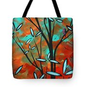 Lilly Pulitzer Inspired Abstract Art Colorful Original Painting Spring Blossoms By Madart Tote Bag