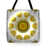 Lily And Daffodil Kaleidoscope Under Glass Tote Bag