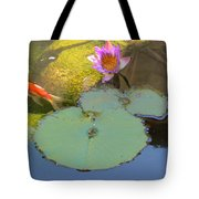 Lily And The Gold Fish Tote Bag
