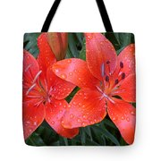 Lily Duet After The Rain Tote Bag