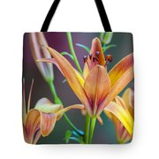 Lily From The Garden Tote Bag