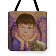 Lily Isabella Little Angel Of The Balance Between Giving And Receiving Tote Bag