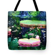Lily Leaves Painterly  Tote Bag