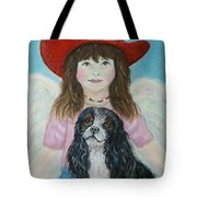 Lily Little Angel Of Self Empowerment Tote Bag by The Art With A Heart By Charlotte Phillips