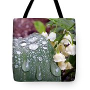 Lily Of The Valley After The Rain Tote Bag