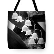 Lily Of The Valley Black And White Tote Bag