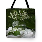 Lily-of-the-valley Bouquet Tote Bag by Luv Photography
