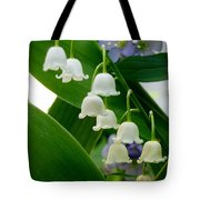 Lily Of The Valley Green Tote Bag