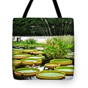 Lily Pad Garden Tote Bag