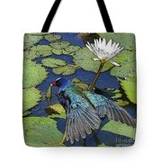 Lily Pad With Bird Tote Bag