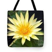 Lily Pad Yellow Tote Bag