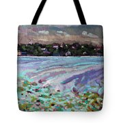 Lily Pads And Lilacs Tote Bag