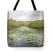 Lily Pads Floating On Water, Anhinga Tote Bag
