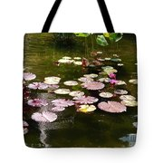 Lily Pads In The Fountain Tote Bag