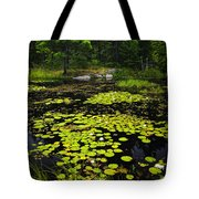 Lily Pads On Lake Tote Bag