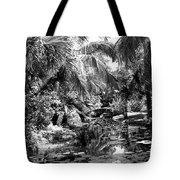 Lily Pond Bw Tote Bag