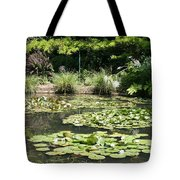 Lily Pond View Monets Garden Tote Bag