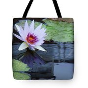 Lily Purple And White Tote Bag