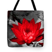 Lily Red And Koi Tote Bag