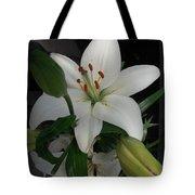 Lily White Tote Bag