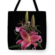 Lily With Buds Tote Bag