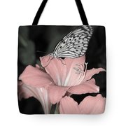Lily With Butterly  Tote Bag
