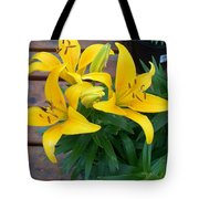 Lily Yellow Flower Tote Bag