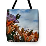 Lilys At La Fonda Tote Bag