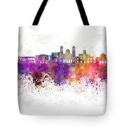 Limassol Skyline In Watercolor Background Tote Bag