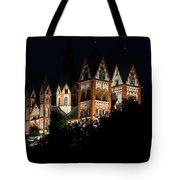 Limburg Cathedral At Night Tote Bag