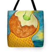Lime Coconut Pineapple Guitar Tote Bag