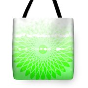 Lime Green Spirograph Tote Bag