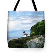 Lime Kiln Point Lighthouse Tote Bag