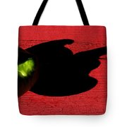 Lime Red Tote Bag