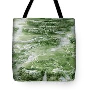 Limestone Detail Minerva Springs Yellowstone National Park Tote Bag