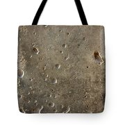 Limestone Pockmarked By Bullets Tote Bag