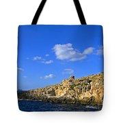 Limestone Rock, Mediterranean Sea, Malta Tote Bag