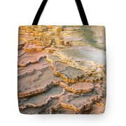 Limestone Terraces Yellowstone National Park Tote Bag
