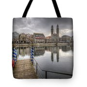 Limmat River Reflections Tote Bag