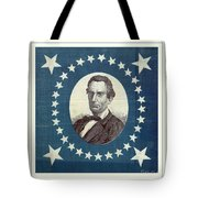 Lincoln 1860 Presidential Campaign Banner - Bust Portrait Tote Bag